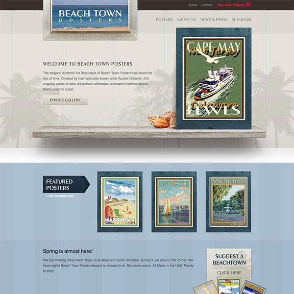 Beach Town Poster